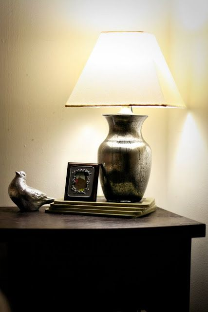 How To Make A Lamp Base From A Clear Glass Vase On Becoming Home