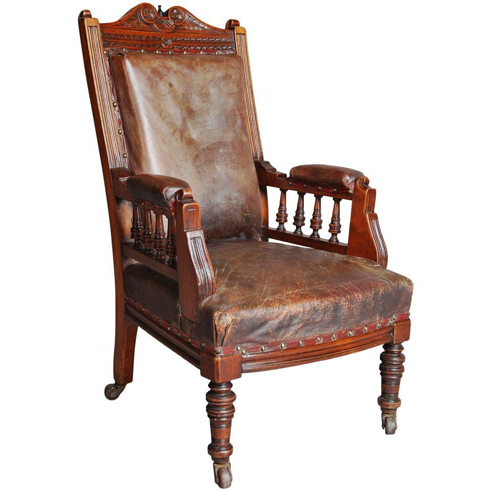 Best 1Stdibs Leather Mahogany Childs British Armchair Armchair Chair Wholesale Furniture 640 x 480