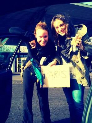 hitchhiking to paris!