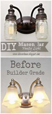 Photo of Best Bathroom Vanity Repeat DIY Mason Jar Ideas #kitchengarden #gardenflow … # ba …