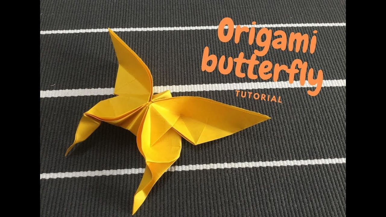 Photo of How to make an origami butterfly from a piece of paper? 如何用一張紙摺出蝴蝶?Tutorial