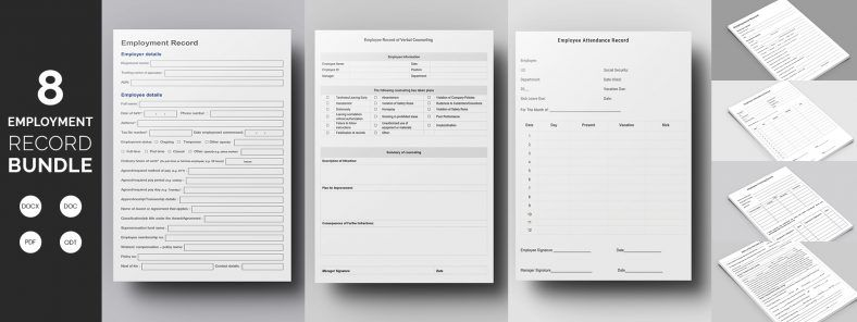 Best Employee Record Template Bundle  Uae