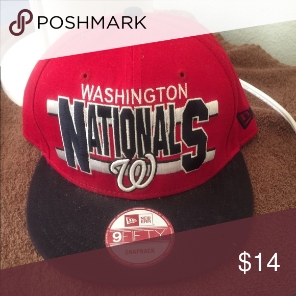 brand new 1f396 17a19 italy washington nationals snapback . red navy worn twice. still in great  condition. 9fifty