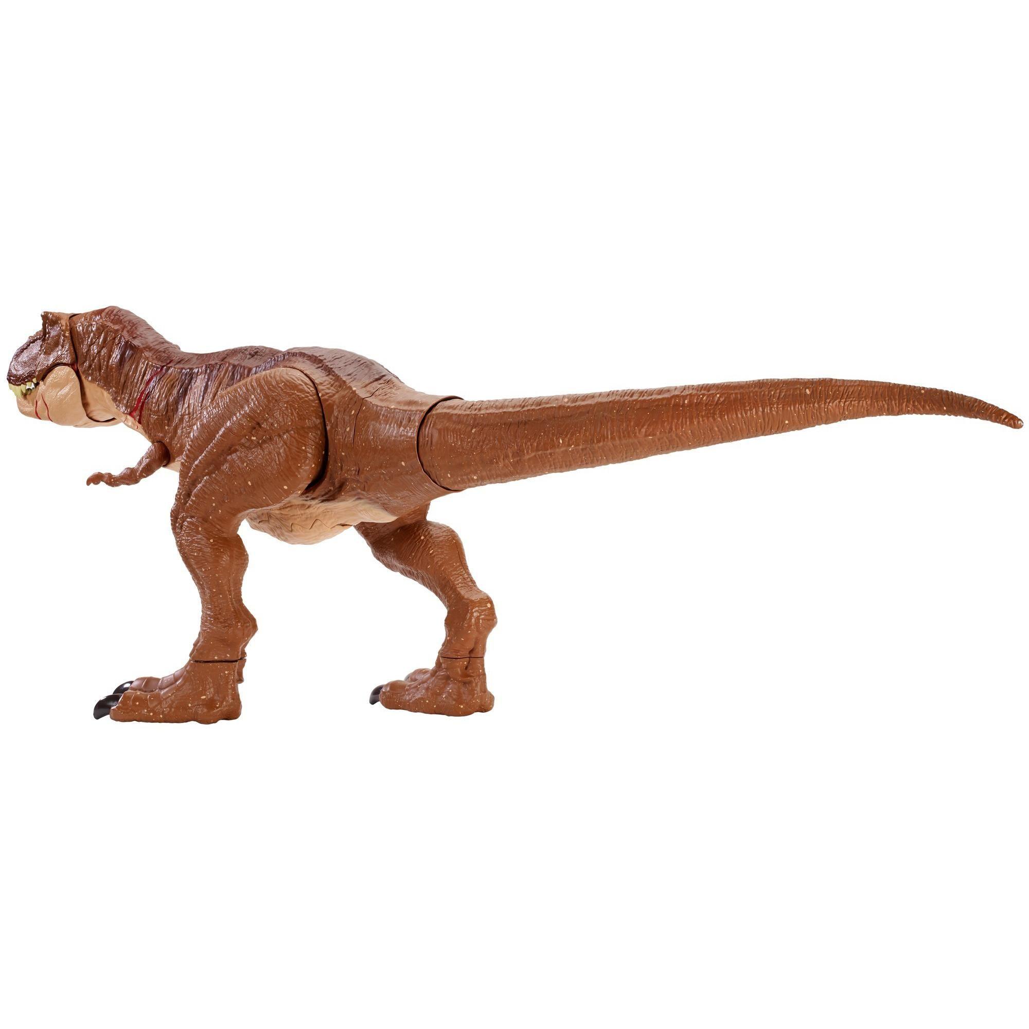 Jurassic World Battle Damage Roarin/' Super Colossal Tyrannosaurus Rex Dinosaur