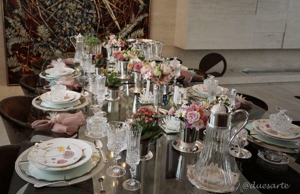 A mesa decorada para nós mulheres!!!