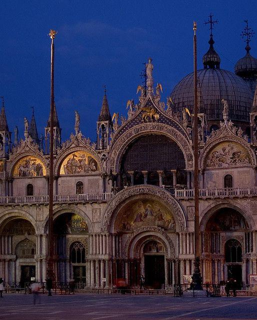Basilica Di San Marco At Night Venice Rita Crane Photography Cathedral Italy Travel Place Of Worship