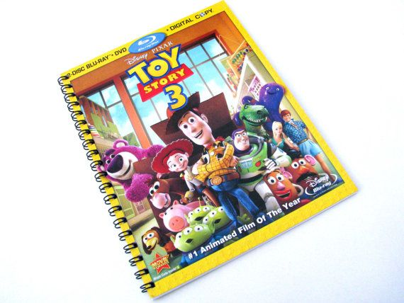 Upcycled Dvd Box Notebook Toy Story 3 By Lizohsiekdesigns On Etsy 8 00 Toy Story Toy Story 3 Dvd