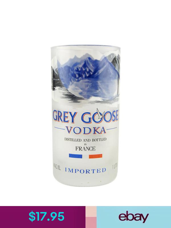 Grey Goose Recycled Bottle Tumbler 24 Oz Vodka Lovers Gift Barware Glass Vodka Bottle Recycled Bottle