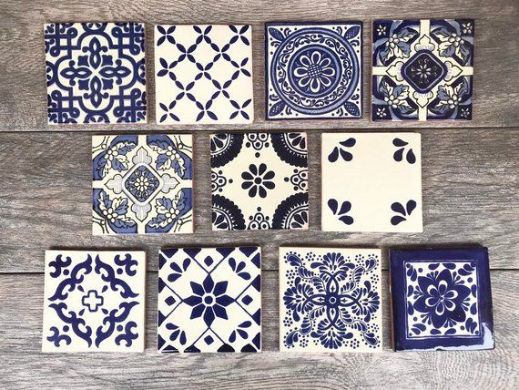Mexican Tile Coasters Wedding Favors PERSONALIZED