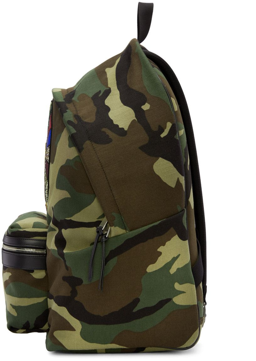 Saint Laurent - Green Camouflage Sweet Dreams Giant City Backpack ... 7d628eb387