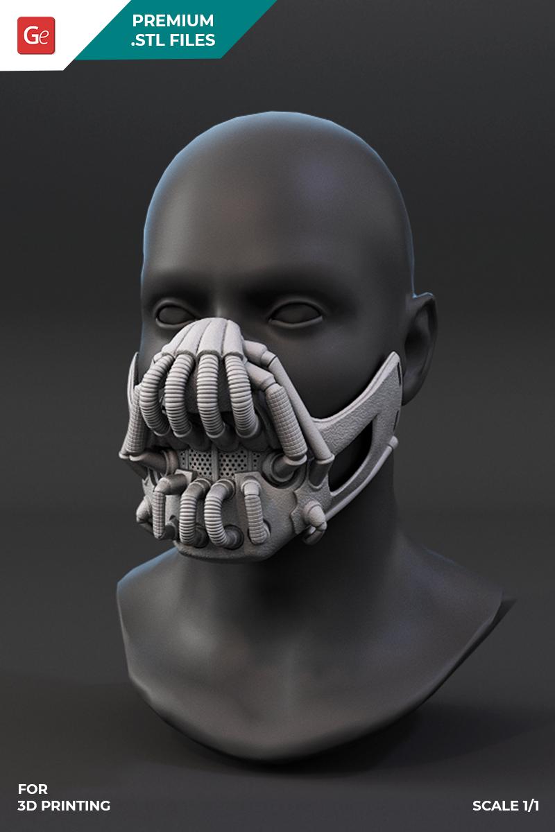 Fun Face Masks For 3d Printing Assembly Bane Mask Face Mask Superhero Wallpaper