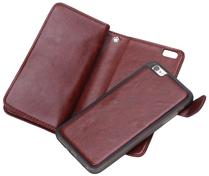 BRG iPhone 6S Plus/6 Plus Case 9 Card Slot 2 in 1 Detachable Magnetic Wallet Case Cover