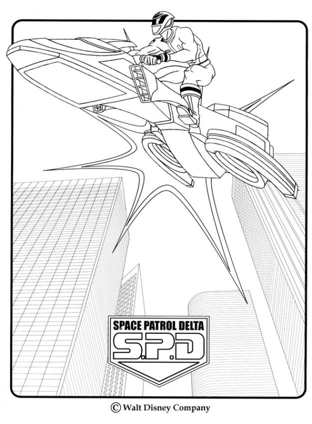 Space Patrol Delta Coloring Page More Power Rangers Content On