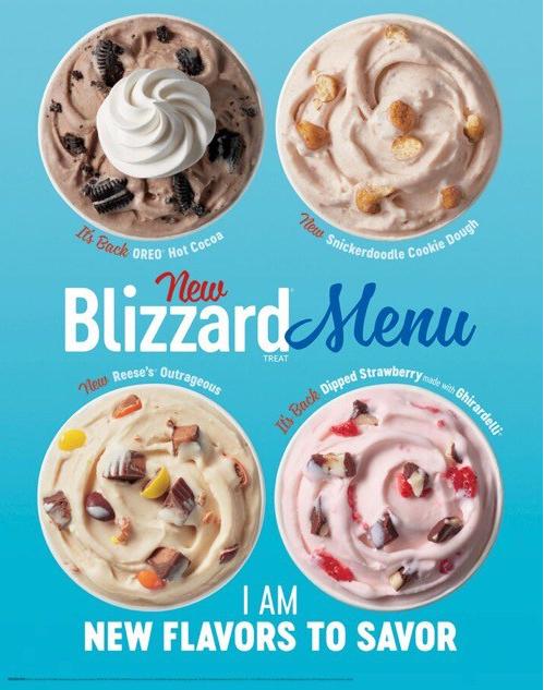Which Flavor Of Blizzard Is Best Blizzard Flavors Dq Blizzard Flavors Dairy Queen