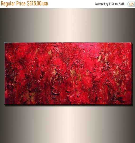 Malerei rote Textur abstrakte Malerei, moderne Wand Kunst moderne - wohnzimmerwand rot