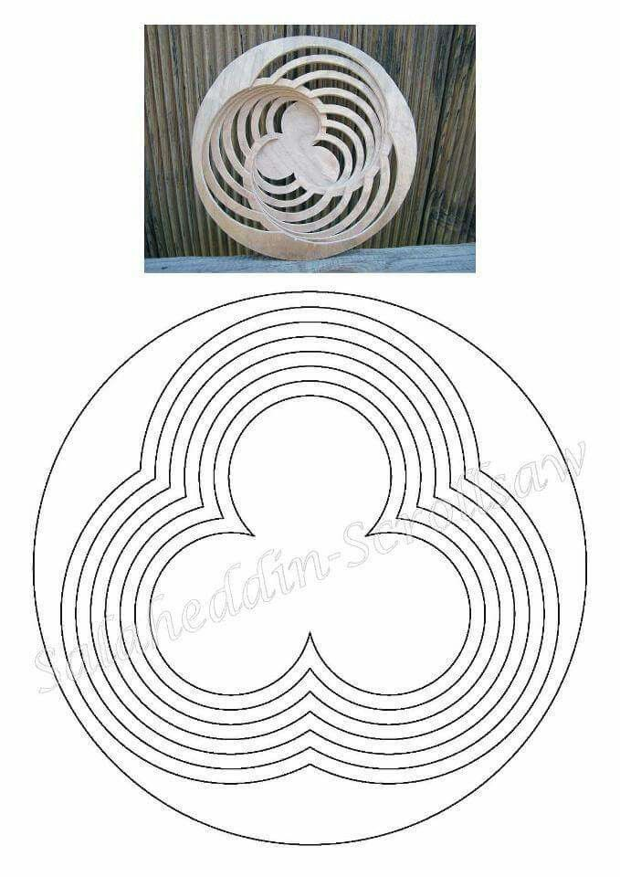 Holzschale mit Zeichnung - scroll saw bowl spiral pattern   Woody