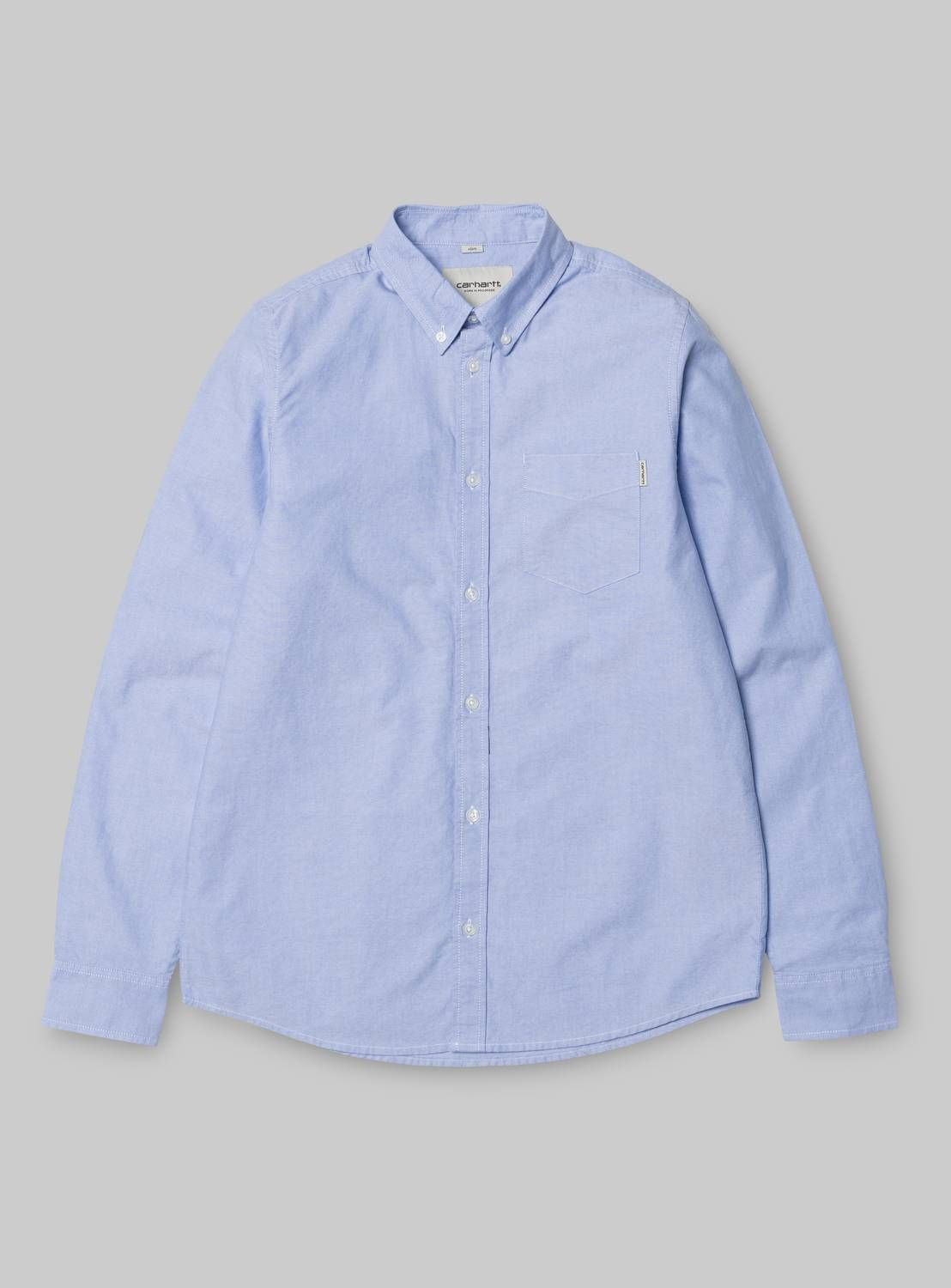 Carhartt Button Down Pocket Shirt Blue - Shirts