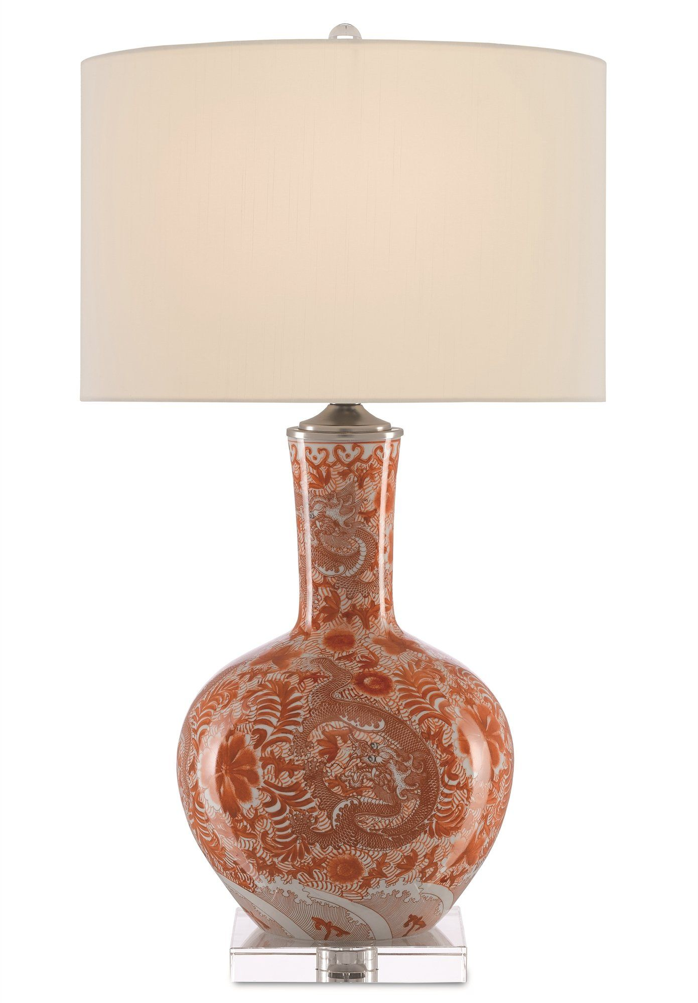 Currey and Company Sheng Red Table Lamp 6000-0368 | Products ...