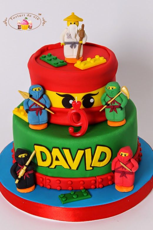 Tort lego ninjago pentru david my own cakes for children for Ninjago zimmer deko