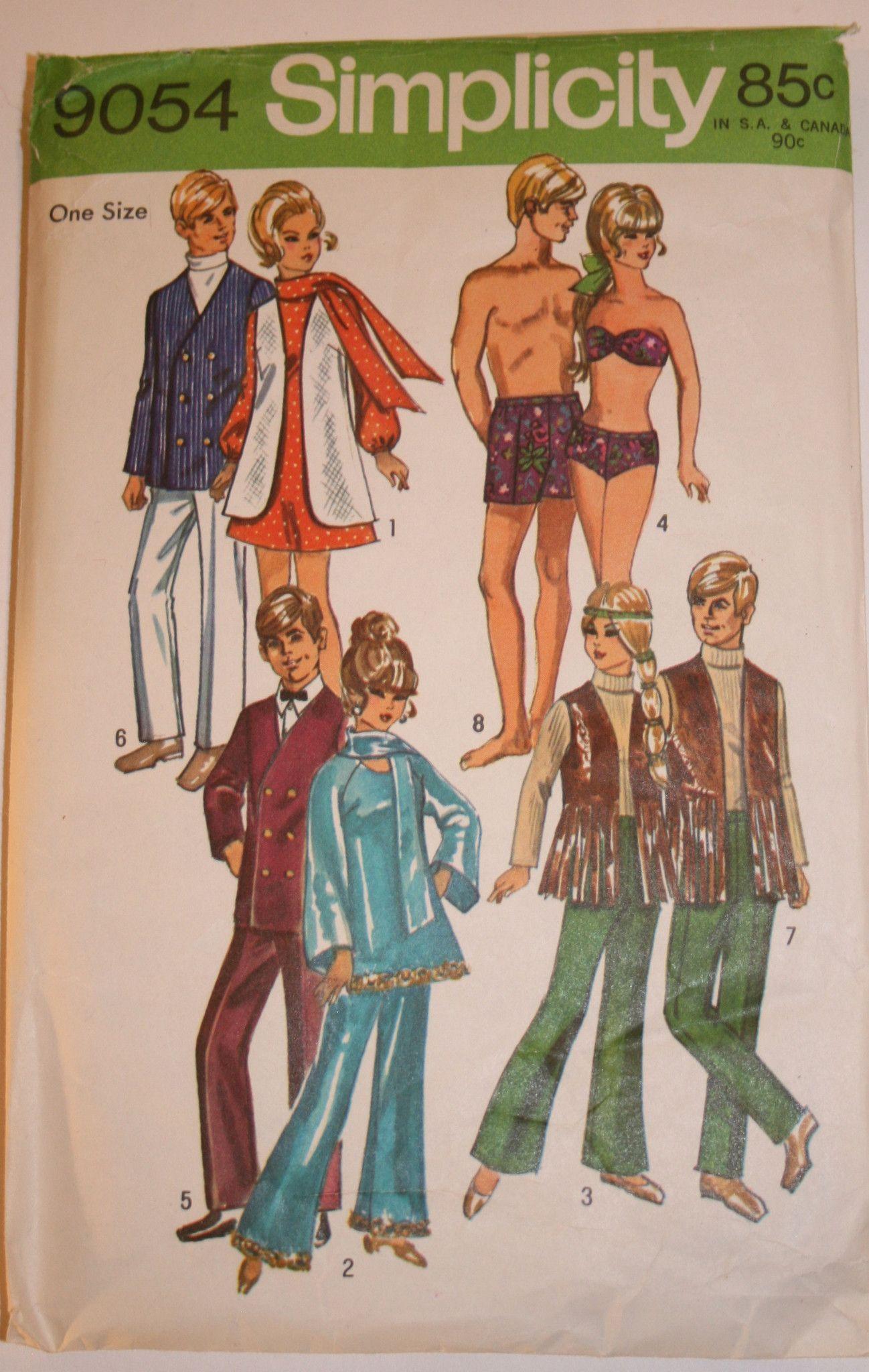 Vintage Barbie & Ken Pattern | Pinterest | Puppen