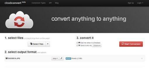 CloudConvert nos permite realizar conversiones de archivos tanto desde escritorio como desde móviles