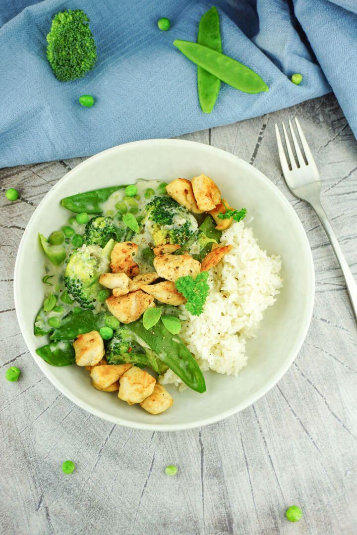 Grüne Low Carb Hähnchenpfanne - Gesund, kalorienarm und lecker #lowcarbyum