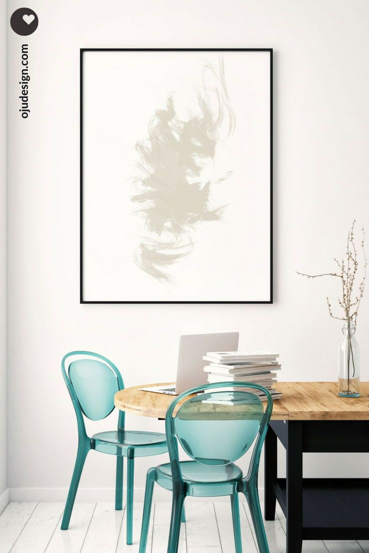 Large abstract art wall brush strokes neutral digital minimalist extra living room ideas also rh pinterest