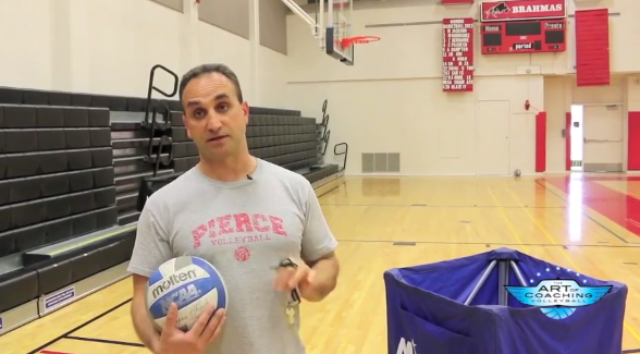 4 V 4 Serving And Passing Drill The Art Of Coaching Volleyball Coaching Volleyball Volleyball Drills Passing Drills