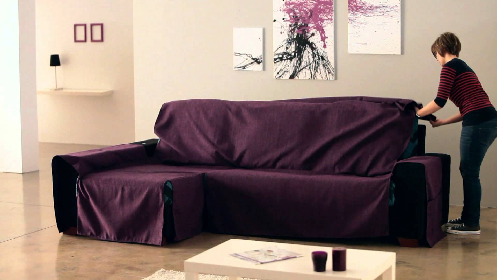 How To Put An Universal Chaise Sofa Covers Sofa Covers Chaise
