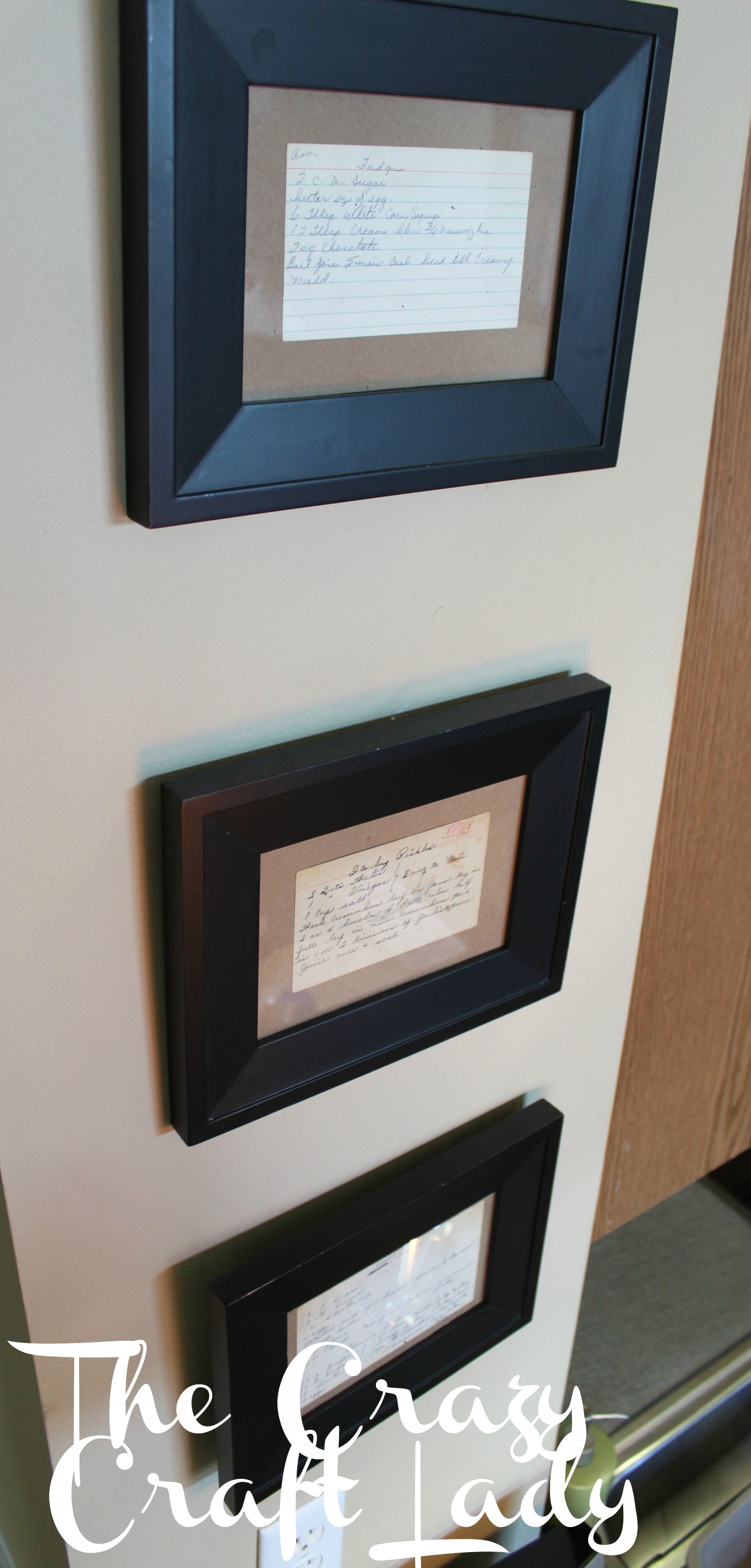 Framed Recipe Cards   Framed recipes, Display and Kitchens