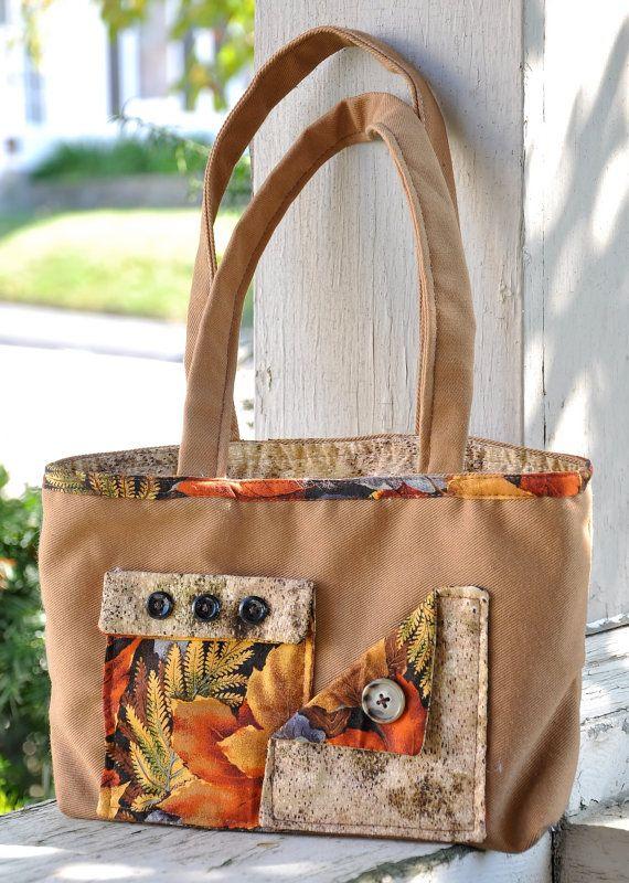 Autumn Leaf Handmade Purse by craftingsbyjasmine on Etsy, $22.00