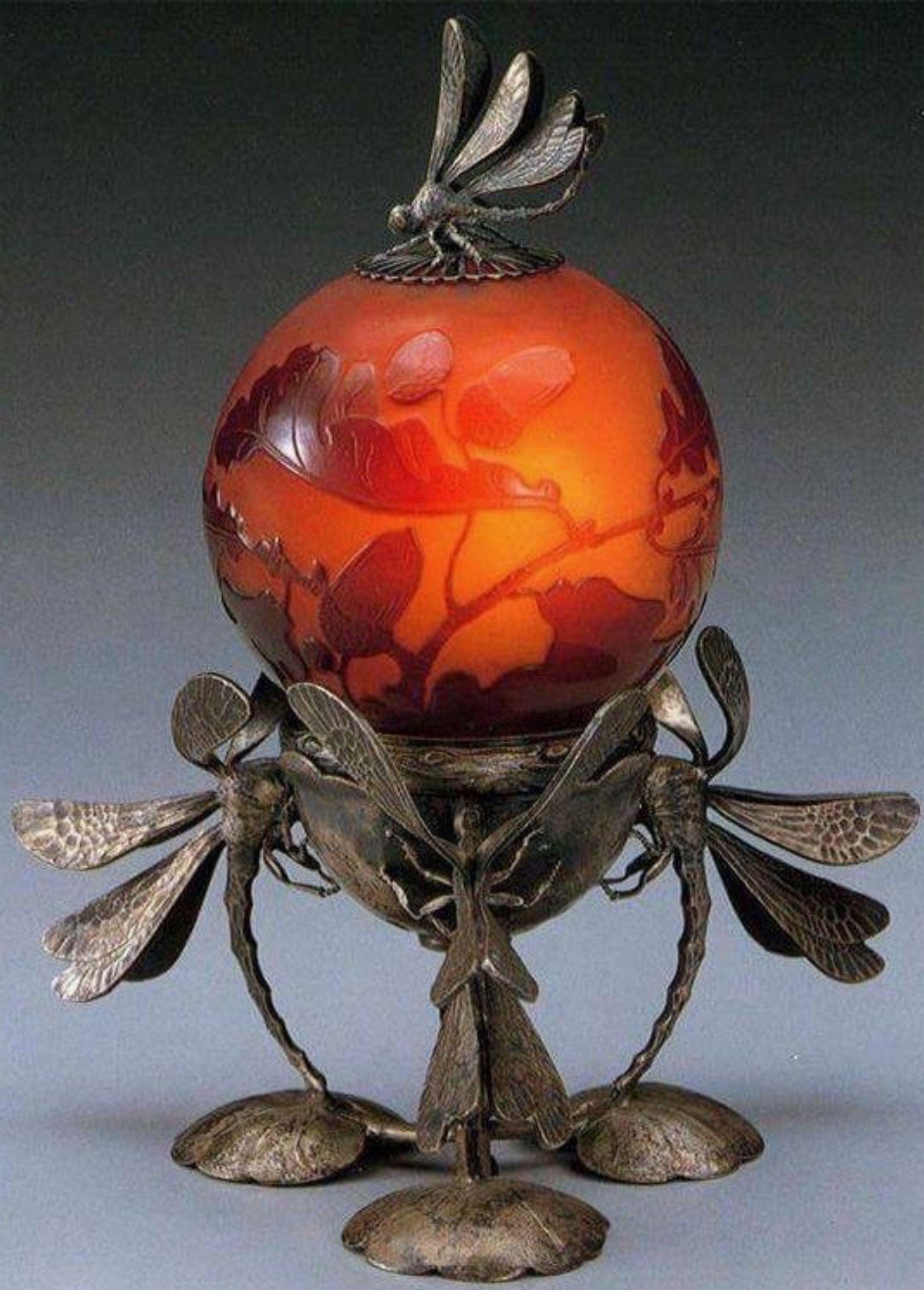 Dragonfly Lamp By Emile Galle 1900s Art Nouveau Lamps Art