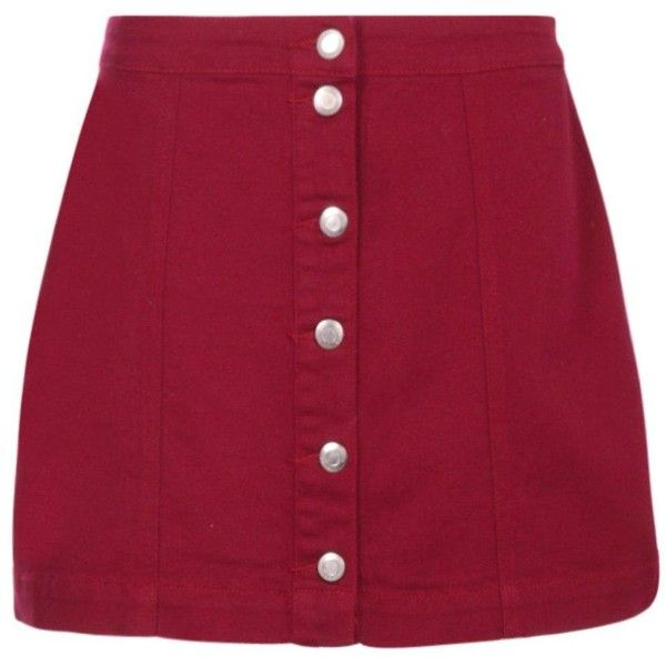 9634eaf6b Boohoo Jen Berry Button Through A Line Denim Skirt | Boohoo (9.030 CLP) ❤