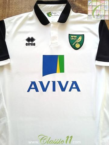 Relive Norwich City s 2013 2014 season with this original Errea away  football shirt. 92b66cc21