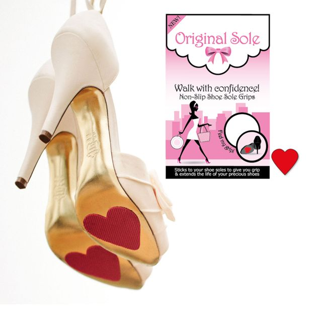 Beautiful Red Heart Shoe Sole Grips - such a lovely addition to bridal heels. http://www.secretfashionfixes.ie/p/red-heart-shoe-sole-grips---2-pairs/os%20sho%20grp