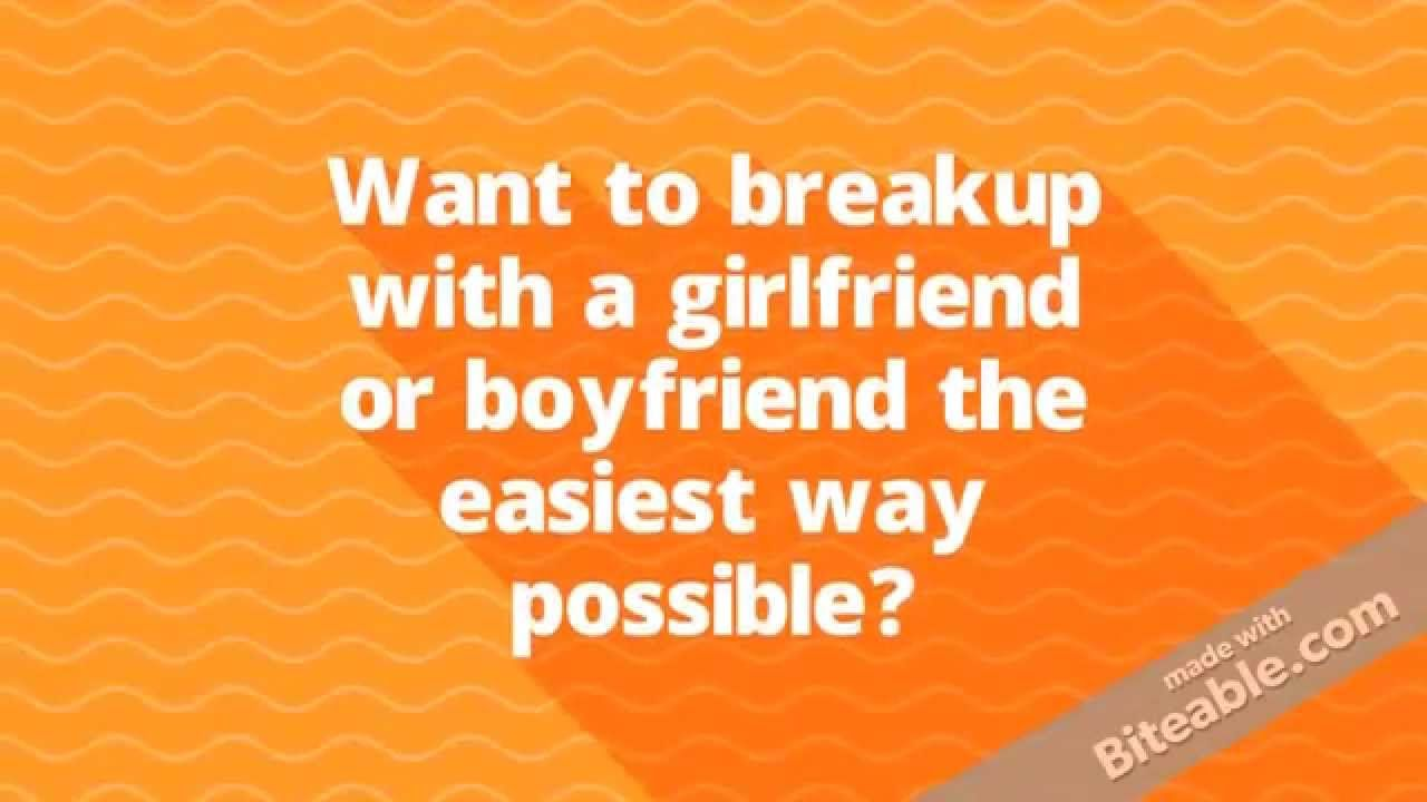 easiest way to deal with a break up