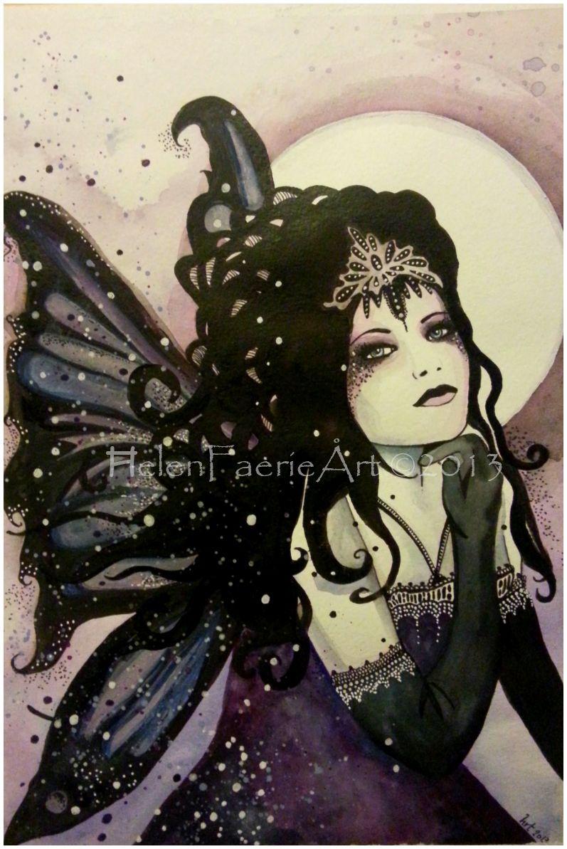 Mystic Faerie Tarot The World: ~Mystic Faerie~ Watercolour Mixed Media Painting Helen