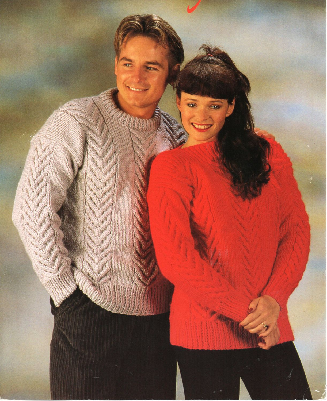 womens aran sweater mens aran sweater knitting pattern pdf download ...