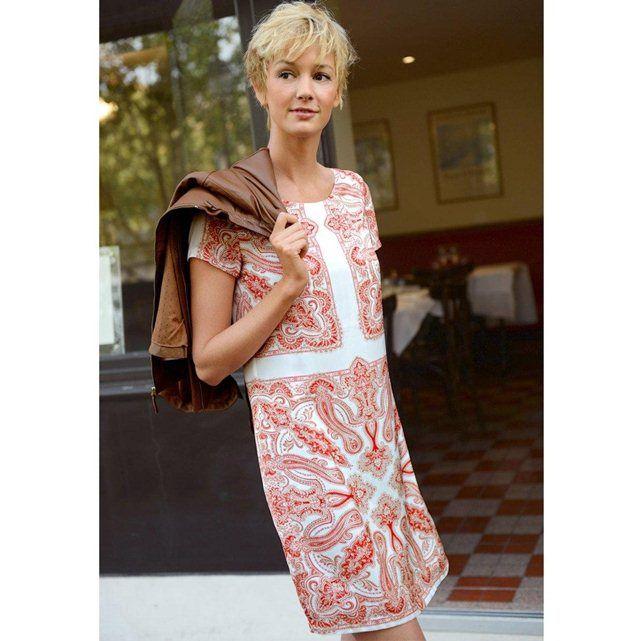 07957d8d364 Robe-housse imprimé foulard LAURA CLEMENT