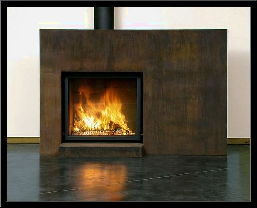 stainless fireplace surround | Outdoor wood burning ...
