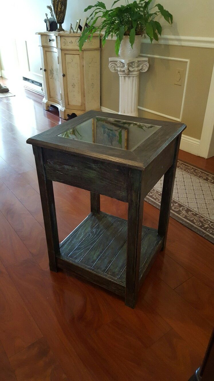 Elegant This Is A Custom Shadow Box End Table That Was Hand Built And Painted By Me