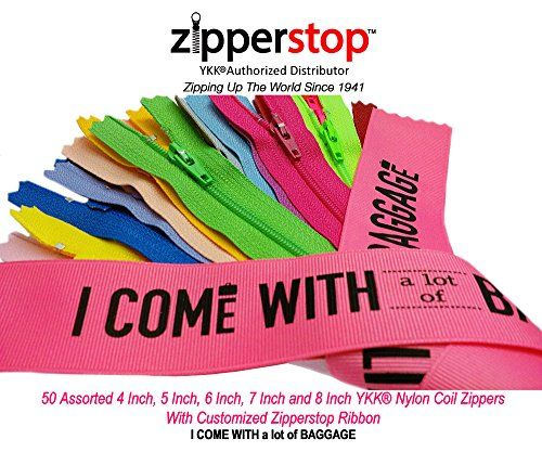 7inch Lot Of 50 Nylon Zippers Assorted Color Wholesale