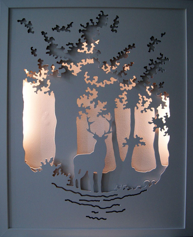 le roi de la for t tableau lumineux en trois dimensions. Black Bedroom Furniture Sets. Home Design Ideas