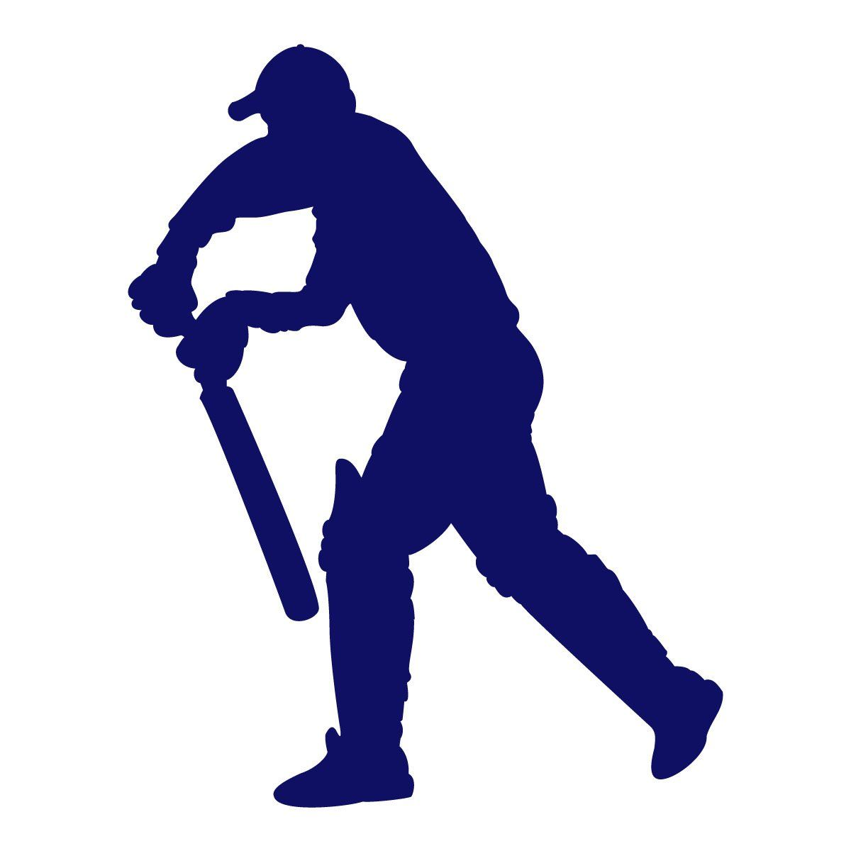 Cricket Wall Decal   Batsman Standing   A Sports Themed Sticker For Boys  Bedroom