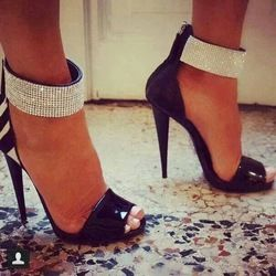 Online Shop Free Shipping Brand Designer Shoes For Women 2015 New Fashion Elegant Party Rhinestone Ankle Strap Sandals High Heels|Aliexpress Mobile