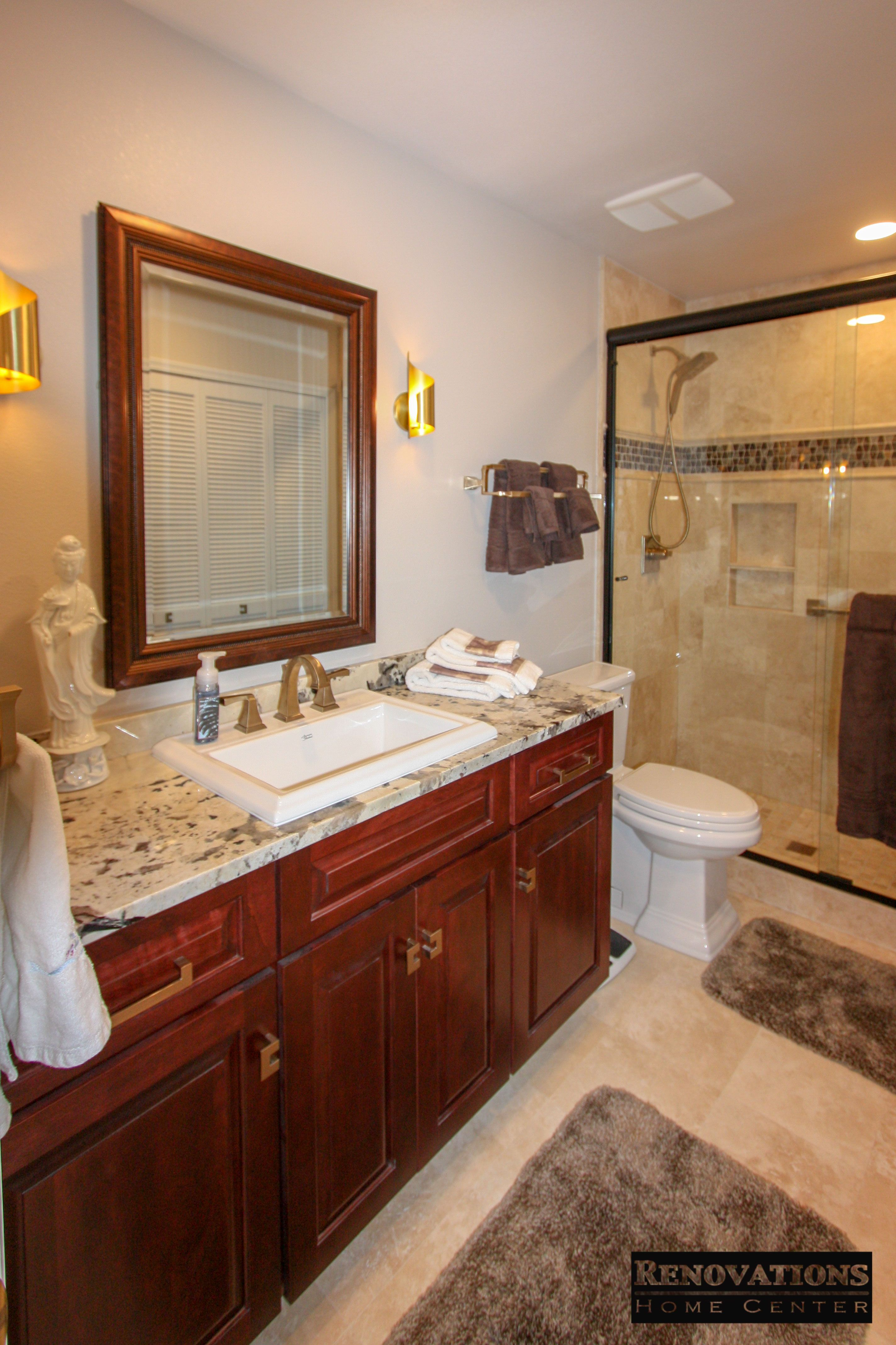 Full Master Bathroom Renovation For Our Client In Palm Harbor We Replaced All Cabinets Wi Kitchen And Bath Remodeling Kitchen Bathroom Remodel Home Remodeling