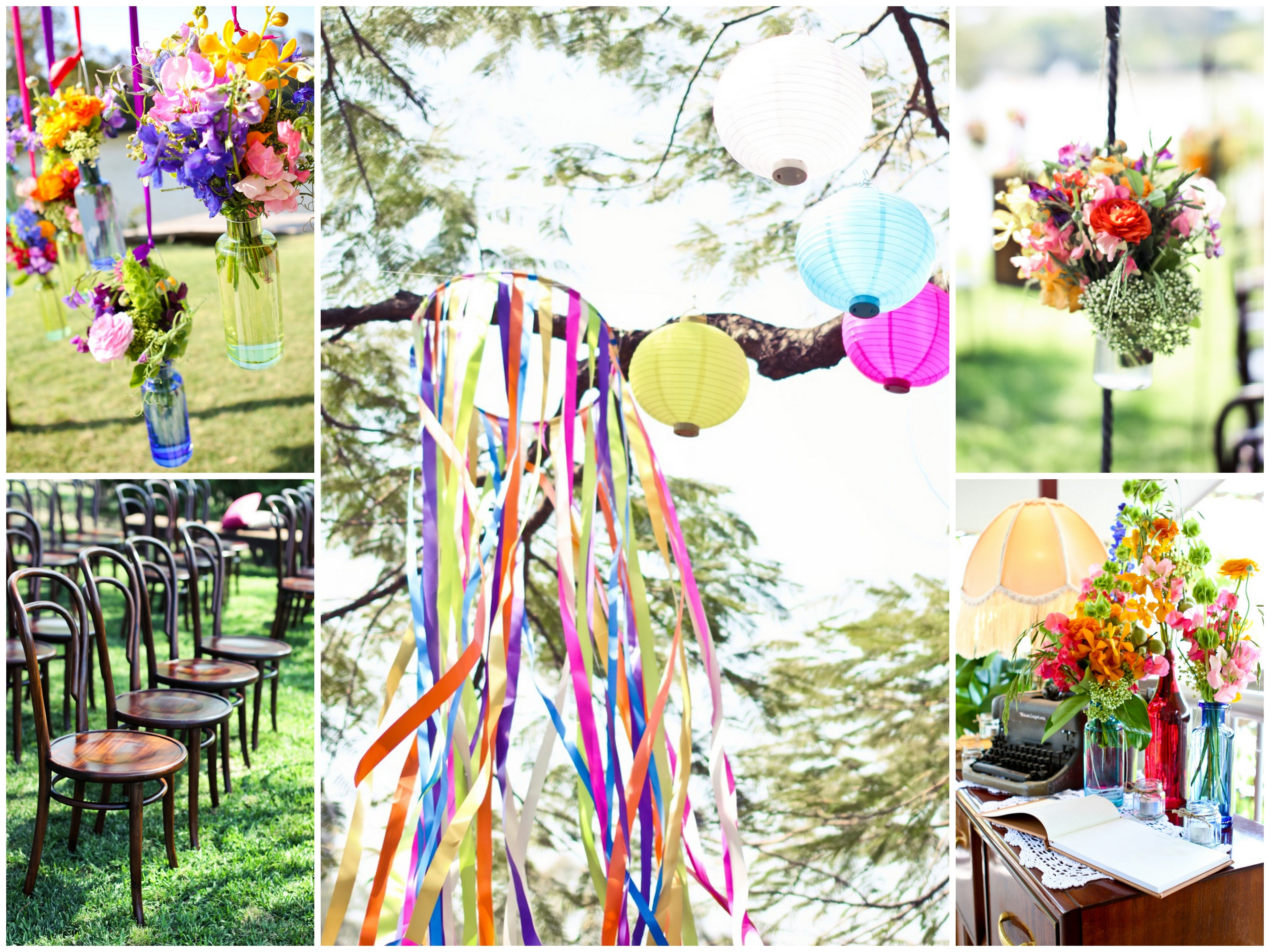 White And Colourful Wedding Theme Google Search Events