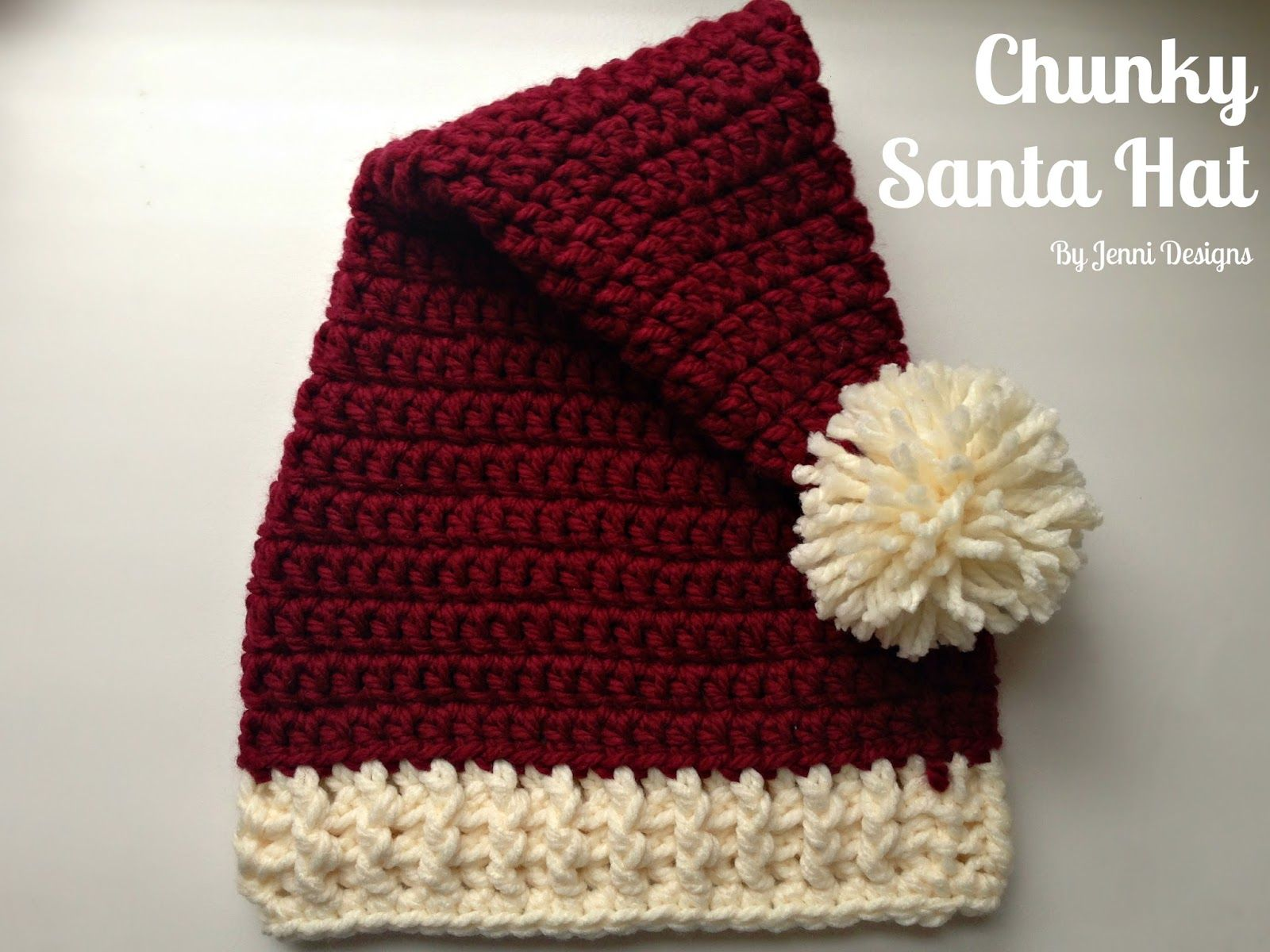 Free Crochet Pattern: Chunky Santa Hat in 4 sizes | Crochet Hats ...