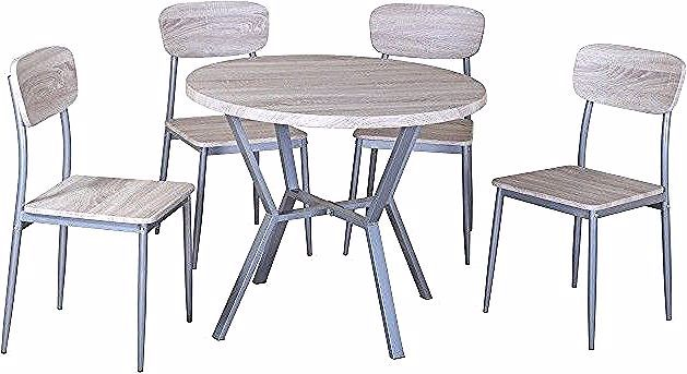 Ensemble Table Et Chaises 1 Table Ronde Et 4 Chaises Roubaix Price Factory Table Coffee Table Dining Chairs