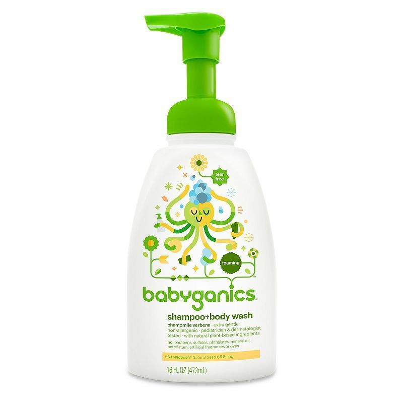 Babyganics 16 Oz Foaming Shampoo Body Wash Body Wash